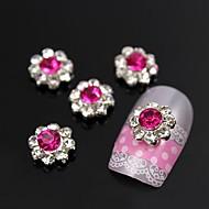 tanie Zdobienie paznokci-10szt śliwka słońce płatek kwiat z dżetów Nail Art 3D dekoracji ze stopu