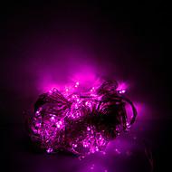 voordelige -10 m 100 leds halloween decoratieve verlichting feestelijke strip verlichting-gewone lichte string licht roze (220v)