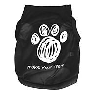 お買い得  -ネコ 犬 Tシャツ 犬用ウェア カートゥン ブラック テリレン コスチューム ペット用
