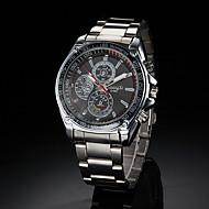 preiswerte -Herrn Quartz Armbanduhr Legierung Band Silber