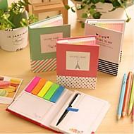 preiswerte Schreibwaren-andere Form Haftnotizen mit Kugelschreiber (gelegentliche Farbe) eingestellt
