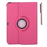 cheap Cases / Covers for Samsung-Case For Samsung Galaxy Samsung Galaxy Case with Stand Flip 360° Rotation Full Body Cases Solid Color PU Leather for Tab 4 10.1