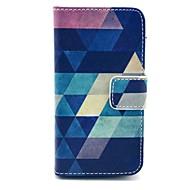 ココスクリーンプロテクターとfun®青パズルPUレザーフルボディケース、iPhone 4 / 4Sのために立って、スタイラス