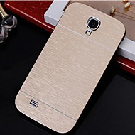 abordables Accesorios de Samsung-2 in 1 Metal Brushed Hard Case for Samsung Galaxy S4 I9500 (Assorted Colors)