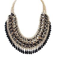 Недорогие Бижутерия-Жен. Бижутерия форма Мода европейский Длинные ожерелья Заявление ожерелья Акрил Сплав Длинные ожерелья Заявление ожерелья Для вечеринок