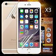 preiswerte iPhone Bildschirm Schutzfolien-Displayschutzfolie Apple für iPhone 6s iPhone 6 3 Stücke Vorderer & hinterer Bildschirmschutz High Definition (HD)