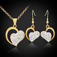 u7® 18k Diamante de imitación austríaco plateado oro de la SWA corazones shamballa joyas establece regalo de la joyería para las mujeres