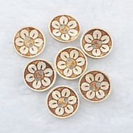 billige -blomstermønster scrapbook scraft sy diy kokos skallet knapper (10 stk)