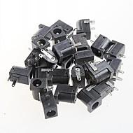 Tomada dc feminino conector de alimentação, dc-005, soquete 5.5-2.1mm (20pçs)