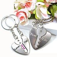 gravura personalizado te amo de metal casal chaveiro