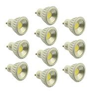 お買い得  LED スポットライト-400-450 lm GU10 LEDスポットライト 1 LEDビーズ COB 調光可能 温白色 / クールホワイト / ナチュラルホワイト 220-240 V / 110-130 V / 10個 / RoHs / CE