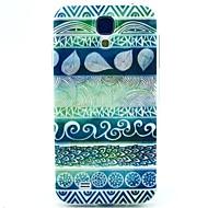 お買い得  携帯電話ケース-ケース 用途 Samsung Galaxy Samsung Galaxy ケース パターン バックカバー 幾何学模様 TPU のために S4