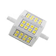 5W R7S LED kukorica izzók 24 SMD 5050 300 lm Meleg fehér Dekoratív AC 85-265 V