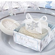 휴일 선물 크리스마스 눈송이 모양의 비누 (색상 랜덤)