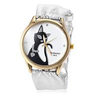preiswerte Tolle Angebote auf Uhren-Damen Quartz Armbanduhr Modeuhr Schlussverkauf PU Band Charme Silber