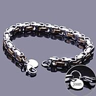 baratos -jóias em aço inoxidável pulseira cadeia personalizado presente gravado