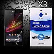 Protector de pantalla de alta definición con polvo absorbente para sony z1 l39h (3 piezas)
