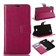 Mert LG tok Kártyatartó / Pénztárca / Állvánnyal / Flip Case Teljes védelem Case Egyszínű Kemény Műbőr LG LG L90