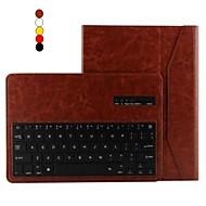 Назначение Кейс для  Samsung Galaxy Чехлы панели со стендом с клавиатурой Флип Чехол Кейс для Сплошной цвет Искусственная кожа для Samsung