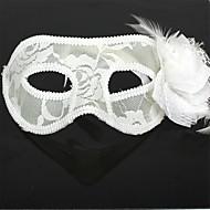 abordables Artículos para Celebración-Carnaval Máscara Hombre Mujer Halloween Festival / Celebración Accesorios Blanco Un Color