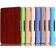 Для Кейс для  Samsung Galaxy со стендом / Флип / Оригами / Магнитный Кейс для Чехол Кейс для Один цвет Искусственная кожа SamsungTab S