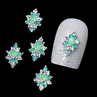 10pcs πράσινο κράμα rhinestone για diy άκρες των δακτύλων του σχεδιασμού των νυχιών τέχνη διακόσμησης