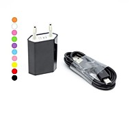 Home Charger Portable Charger Phone USB Charger EU Plug Charger Kit 1 USB Port AC 100V-240V For Cellphone
