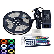 abordables Tiras de Luces LED-jiawen led light strip 5 m rgb 5050md fiexble impermeable decoración para el hogar led con adaptador de corriente y control remoto ac 100-240v