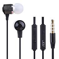iPhoneや他の携帯電話用のJTX-jl520 3.5ミリメートルノイズキャンセリングマイクボリュームコントロールインイヤーイヤホン