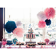 12 pulgadas de la boda flores de papel artesanal decoración del partido pompones de papel de seda de la boda (juego de 4)