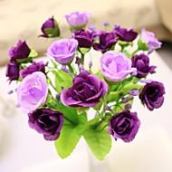 abordables Flores Artificiales-Flores Artificiales 1 Rama Estilo europeo Rosas Flor de Mesa