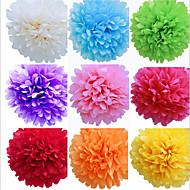 abordables Pañuelos-8 pulgadas de la boda flores de papel artesanal decoración del partido pompones de papel de seda de la boda (juego de 4)