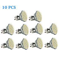 お買い得  LED スポットライト-3W 300-350 lm GU10 LEDスポットライト 60 LEDの SMD 3528 温白色 クールホワイト AC 220-240V