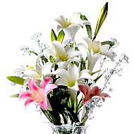 1 şube PU Lilies Masaüstü Çiçeği Yapay Çiçekler