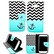 Недорогие Чехлы и кейсы для Galaxy А-Кейс для Назначение SSamsung Galaxy Кейс для  Samsung Galaxy Бумажник для карт со стендом Флип Магнитный С узором Чехол анкер Кожа PU для