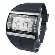 hesapli Mücevher&Saatler-Erkek Dijital saat Bilek Saati Dijital Alarm Takvim Kronograf LCD Kauçuk Bant İhtişam Siyah