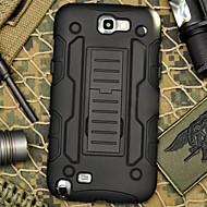 Для Samsung Galaxy Note Защита от удара / со стендом Кейс для Задняя крышка Кейс для Армированный PC Samsung Note 2
