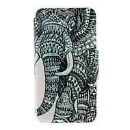 Недорогие Чехлы и кейсы для Galaxy Note 2-Для Samsung Galaxy Note Бумажник для карт / со стендом / Флип Кейс для Чехол Кейс для Слон Искусственная кожа SamsungNote 5 Edge / Note 5