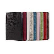 Helfarge/Krokodilleskinn Mønster - Smart Covers/Folio Cases - Eple iPad Air 2 - (PU / Lær , Rød/Svart/Hvit/Grønn/Blå/Brun/Rosa/Rose/Beige/Mørkerød)