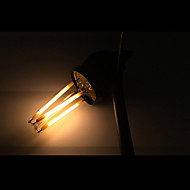 abordables ONDENN-ONDENN 5pcs 2800-3200 lm E12 Bombillas de Filamento LED CA35 4 leds COB Regulable Blanco Cálido AC 110-130V