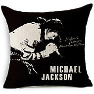 stil modern Michael Jackson cântă model bumbac / lenjerie pernă decorative capac