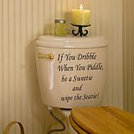 お買い得  インテリア用品-ステッカー&テープ ブティック PVC 1個 - 浴室 その他のバスルームアクセサリー