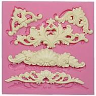 tanie Narzędzia kuchenne-Europejski formy koronki silikonowy do dekoracji tortu kremówki