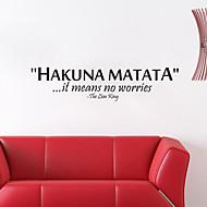 billige -vegg klistremerker Veggoverførings, Hakuna Matata engelske ord&siterer pvc vegg klistremerker