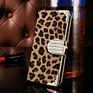Для Кейс для  Samsung Galaxy Кошелек / Бумажник для карт / Стразы / Флип Кейс для Чехол Кейс для Леопардовый принт Искусственная кожа