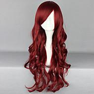 Недорогие Парики из искусственных волос-жен. Парики из искусственных волос Длиный Глубокие волны Красный Боковая часть С чёлкой Парик для Хэллоуина Карнавальный парик Парики к