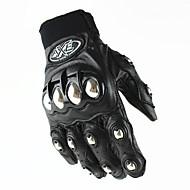 Dedos completos Cuero Cuero Guantes motocicletas