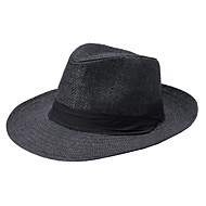 cheap -Unisex Vintage Fedora Hat / Straw Hat - Solid Colored
