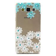 Недорогие Чехлы и кейсы для Galaxy А-Кейс для Назначение SSamsung Galaxy Кейс для  Samsung Galaxy Стразы / Прозрачный / С узором Кейс на заднюю панель Цветы ТПУ для A5
