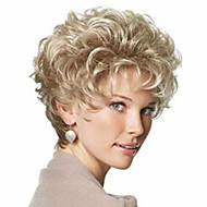 Vrouw Synthetische pruiken Kort Gekruld Kinky krullen Licht blond Met pony Black Pruik Natuurlijke pruik Kostuumpruik